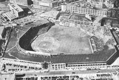 Aerial of Fenway Park in the 1930s