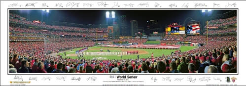 2011 World Series at Busch Stadium Panoramic Poster