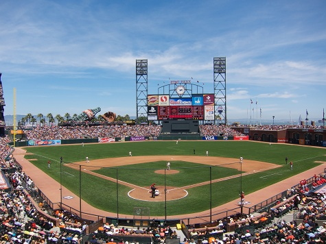 View from behind homeplate at AT&T Park - Picture: Mark Whitt