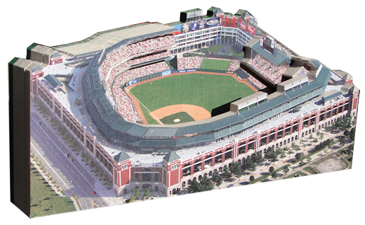 Ballpark in Arlington Texas Rangers 3D Ballpark Replica