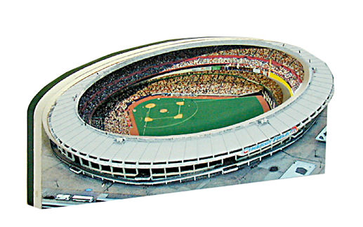 Riverfront Stadium Cincinnati Reds 3D Ballpark Replica