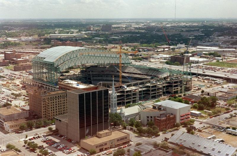 Houston Astros Ballpark Construction Pictures